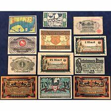 German Hyperinflation Notes Currency Collection - Bright Colors - Free Ship USA