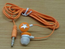 Orange/Silver Earbuds in-ear headphones for MP3  music, ipod, 3.5mm
