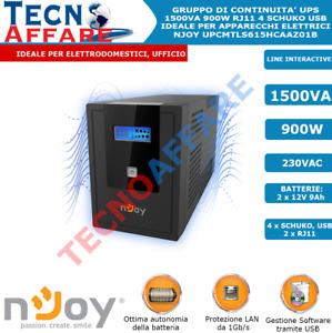 Gruppo di Continuità UPS 1500VA 900W Line Interactive PC DVR Server Njoy Cadu