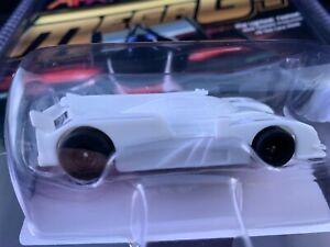 22009 AFX MEGA G PLUS LEMANS AUDI R18  WHITE PAINTABLE TOMY AURORA HO SCALE