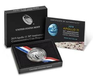 2019-S Apollo 11 50th Anniversary Proof Half Dollar (OGP/COA)
