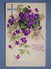 R&L Postcard: Art Design, Easter Floral Flower Design