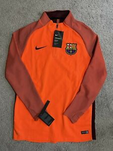 Nike Barcelona 17/18 Drill Football Top Hyper Crimson 858306-813 Mens L $145 NWT