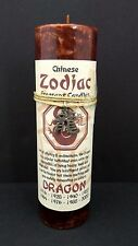 Pillar Candle Scented with Chinese Zodiac Dragon Symbol Necklace Hemp Twine