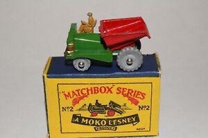 MATCHBOX LESNEY #2A MUIR HILL SITE DUMPER, EXCELLENT, BOXED TYPE B