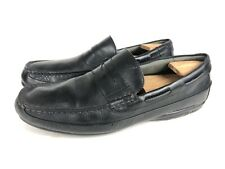 Sperry Top-Sider Gold Cup Black Leather Slip on Driving Penny Loafer Men's 10 M