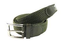 Cinta Cintura Donna Uomo LeoCo Intrecciata Verde Glamour Fashion Alla Moda hac