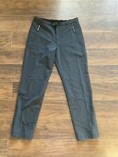 Ibex Women's Black Climawool Lite Straight Leg Pants Merino Nylon Sz M