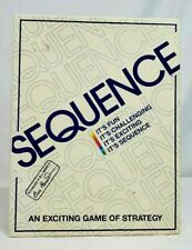 1995 Jax SEQUENCE Classic Strategy  Board Game 100% Complete MINT in BOX