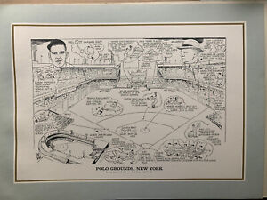 "1990 The Sporting News New York Polo Grounds 16""x22"" Litho Print by Amadee"