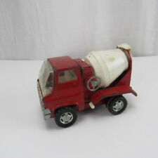 Vintage Louis & Marx Toy Co. Steel Cement Mixing Red Truck Hand Crank