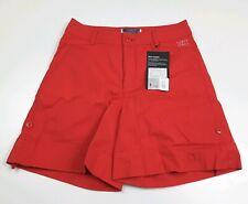 Helly Hansen Jotun Shorts Women's Earth Red Cotton Roll Up Hem Size S