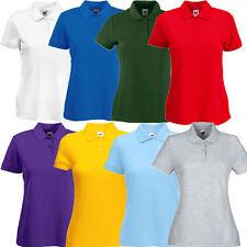 Fruit of the Loom Damen 65/35 Pique Poloshirt Polo T-Shirt XS S M L XL XXL