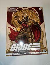 Snake Supreme Cobra Commander GIJoe Classified deluxe unopened