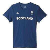 adidas Men's Scotland Euro 2016 Football Fan Climalite Gym T Shirt - Navy Blue