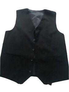 Boys Black Waistcoat Size 12/13yrs