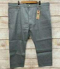 Levi's 501 Jeans Mens 46X30 Grey Shrink To Fit Classic Button Fly Jeans New