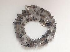 Diamond Quartz Carbon Inclusion Natural Crystals Necklace 8mm to 15mm