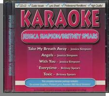 Karaoke CD+G - Jessica Simpson & Britney Spears - New 5 Song CD! Hits by Each!