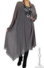 PoCo LAGENLOOK Unter-Kleid Kaftan Long-Shirt XL-XXL-XXXL 46 48 50 52 54 56 58