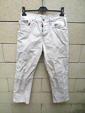 Pantalon Jeans SERGE BLANCO Quinze 15 coton 3/4 beige taille 42