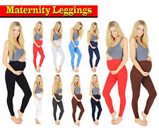 WOMENS MATERNITY LEGGINGS FULL LENGTH ANKLE CLASSIC OVER BUMP PLUS SIZE 8- 22