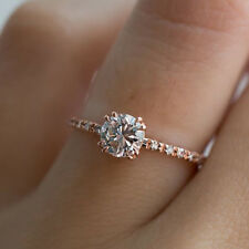 ENGAGEMENT ANNIVERSARY JEWELRY LUXURY RHINESTONE WOMEN'S FINGER RING ADMIRING