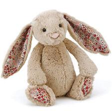 JELLYCAT Blossom Bashful Bunny Rabbit teddy bear toy Small 18cm Beige Floral NEW