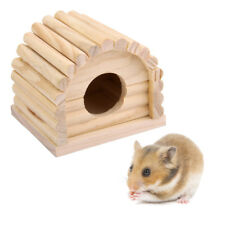 Natural Wooden Hamster House Dome Toy Detachable for Hamster Mouse Gerbil
