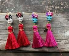 Skull Earrings with Crown A Little Dress&Hands,Day of The Dead,Tassel Earrings