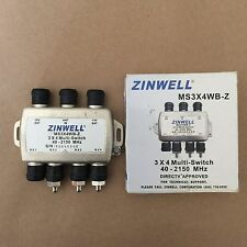 3 x 4 MultiSwitch Diplexer Signal Separator Satellite Cable TV Zinwell