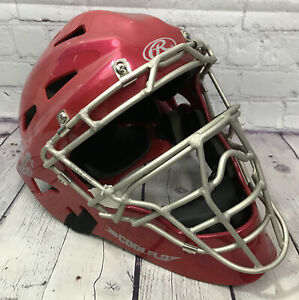 Rawlings HLCH1S Baseball Catcher's Helmet NOCSAE Certified Removable Pads NEW