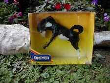 1992 Breyer Special Run Bucking Bronco (#701092) Black Pinto horse - Certified