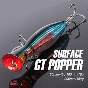 Fishing Lure Big Popper Loud Sound Bluefish Topwater Hard Bait Tackle Wobbler