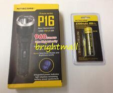 NEW NITECORE P16 960 LUMENS PRECISE TACTICAL LED FLASHLIGHT w/ 2300mAh battery