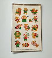VTG Holly Bears Christmas Holiday Sticker Sheets 1990 Current Inc 14033-2 New
