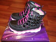 Skechers Splash Dash S Lights Lumi-Luxe 20055L Toddler Girls Boots Shoes Size 13