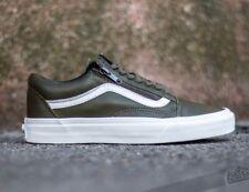 14fe48f4c1 VANS Old Skool Zip (Antique Leather) Ivy Green Skate Shoes WOMEN S 8