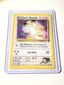GIOVANNI'S MEOWTH - Gym Challenge  - 74/132 - Common - Pokemon Card - NM
