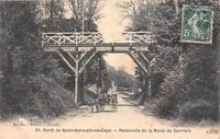 CPA 78 FORET DE ST GERMAIN EN LAYE PASSERELLE DE LA ROUTE DE CARRIERS