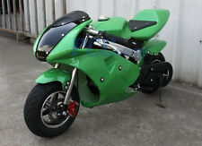 FREE SHIPPING KIDS 49CC 2 STROKE MINI BIKE GAS MOTOR SUPERBIKE GREEN V DB49B
