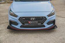Front Stoßstangen Racing Flaps für Hyundai I30 N Mk3 schwarz Hochglanz