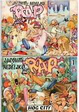 benito jacovitti + nedeljko bajalica RAP 0 + 1 (Hog City) Balocco Editore 1996-7