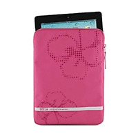 Golla Universal Tablet Sleeve Case Pink with Flower Pattern for 10.1 Tablets