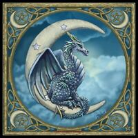 Moonlight Dragon - DIY Chart Counted Cross Stitch Patterns Needlework 14 ct Aida