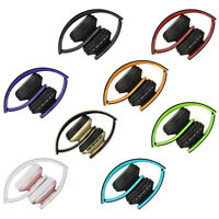 Foldable Wireless Bluetooth Wired Headphone Earphone Headset Handsfree+MP3+SD+FM