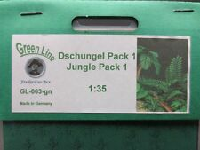 GreenLine Jungle Pack 1 - GL063 - laser cut jungle plants - 1:35 diorama scenery