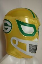 GREEN BAY PACKERS WRESTLING-LUCHADOR MASK!Support Your Team! GREAT FOR FANS!!!