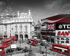 Poster LONDON - Piccadilly Circus / Red Buses ca50x40cm  NEU z292