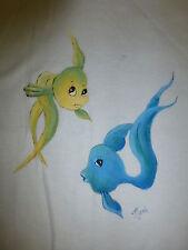 BRAND NEW ~ GIRLS SIZE 4 HANDPAINTED 'ONE FISH TWO FISH' TSHIRT ~ NEW